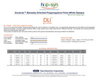 DL grade hopsyn spec sheet