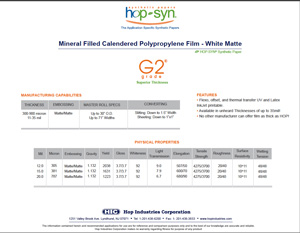 G2 Grade hopsyn synthetic paper