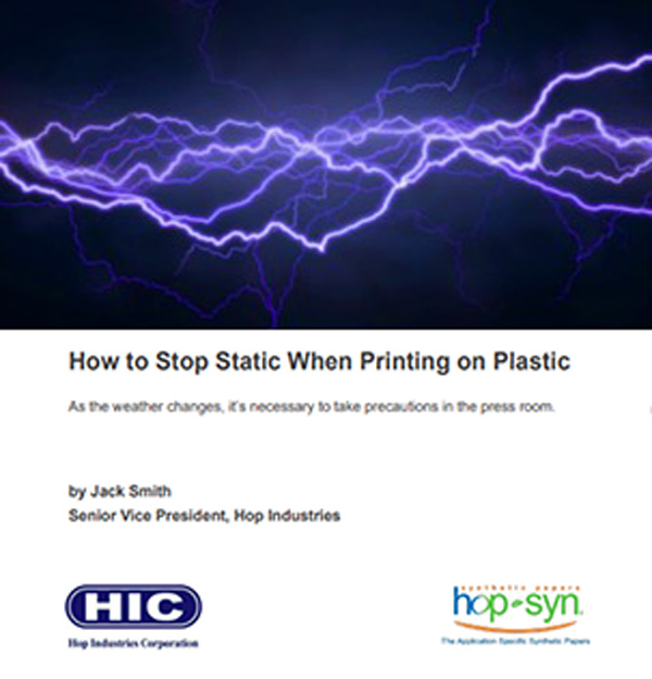 Report- Stop static when printing on plastic
